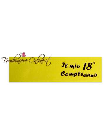Biglietti bomboniera giallo Il mio 18° Compleanno