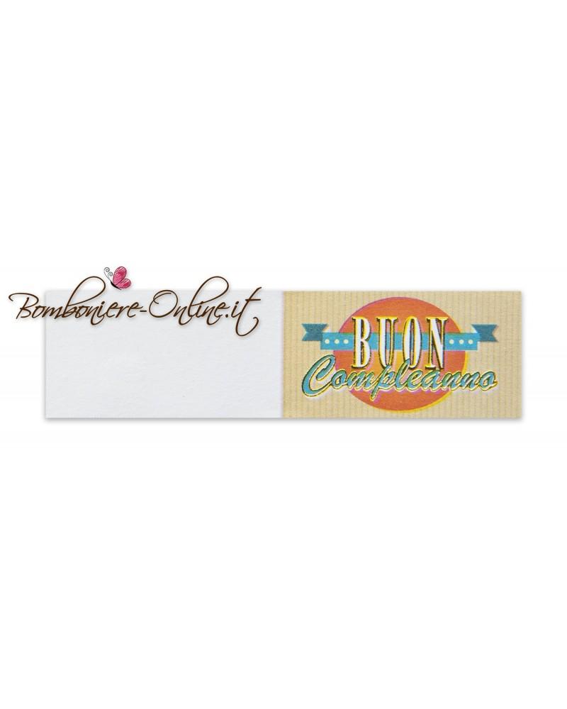 Biglietti bomboniera Buon Compleanno Banner