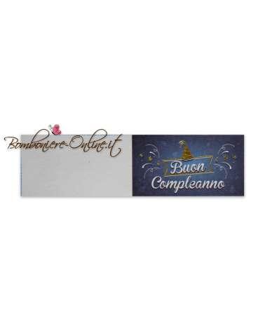 Biglietti bomboniera Buon Compleanno Blu style