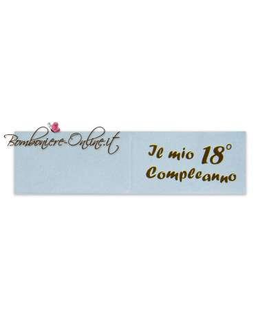 Biglietti bomboniera azzurro Il mio 18° Compleanno