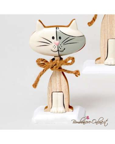"Gatto medio linea ""Wood for love"""