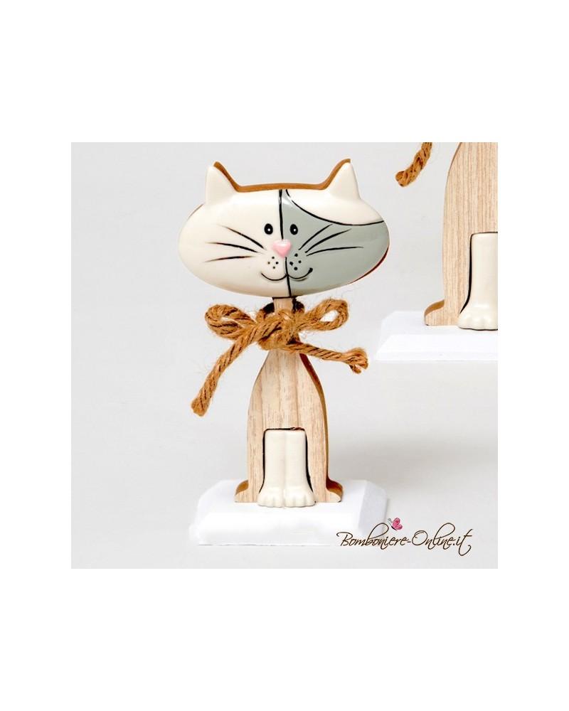 """Gatto medio """"Wood for love"""""""
