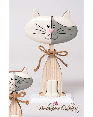"Gatto grande linea ""Wood for love"""