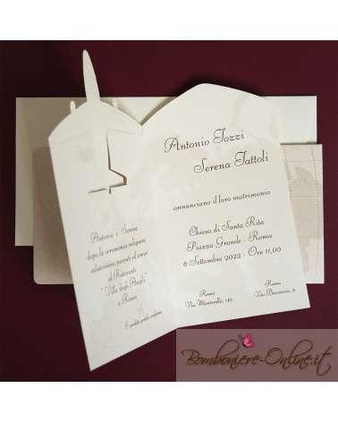 Partecipazione di nozze aereo Airlove