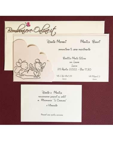 Partecipazione di nozze Topini