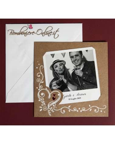 Partecipazione magnete Sposi