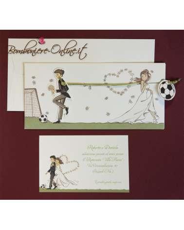 Partecipazioni di nozze simpatiche - sposo calciatore