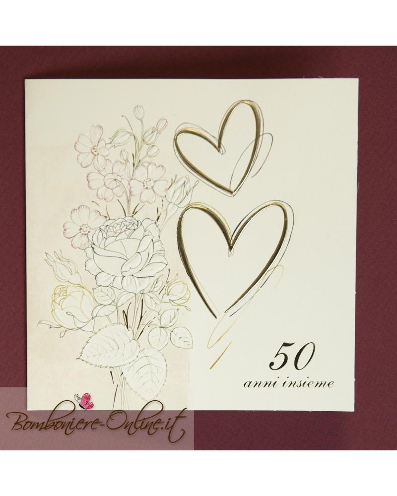 Partecipazioni Matrimonio Anni 70.Partecipazione Nozze D Oro 50 Anni