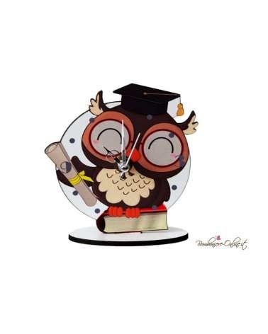 Orologio Laurea gufetto con tocco