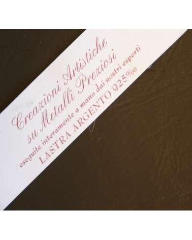 Certificazione placca argento bilaminato 925