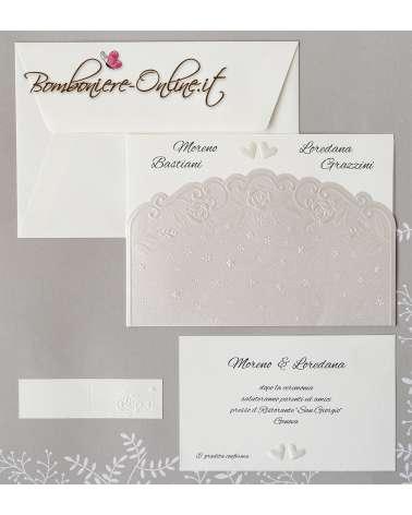 Partecipazione nozze con invito Classic elegante