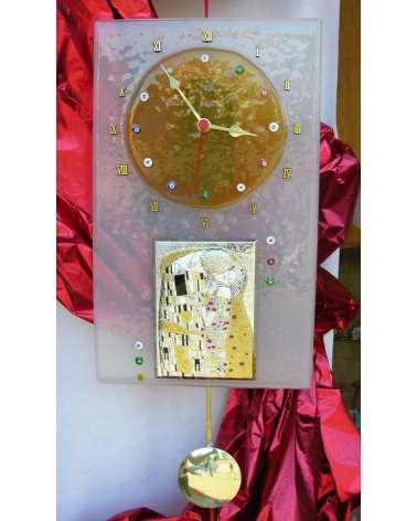 "Orologio ""Il bacio"" di Gustav Klimt"