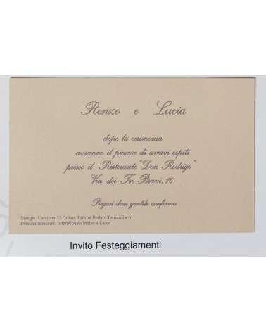 Invito di Partecipazione di nozze Edonè