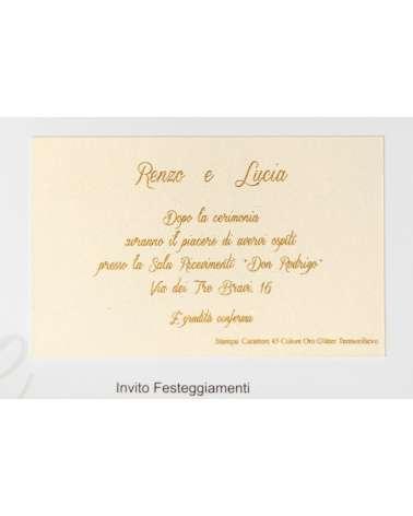 Invito di Partecipazione di nozze Ebe