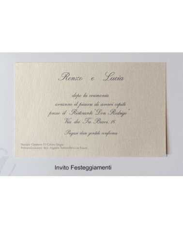 Invito di Partecipazione matrimonio Eucleia