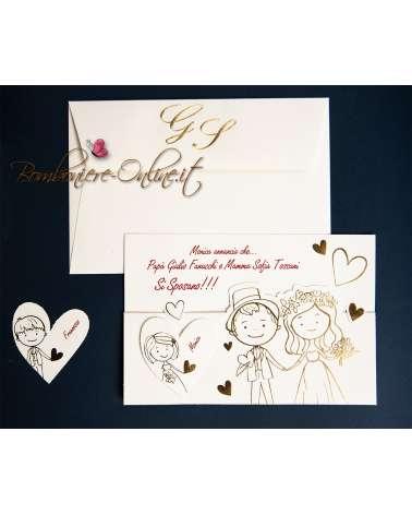 Partecipazione matrimonio Mamma e Papà love