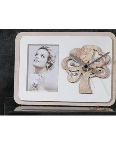 """Bomboniera Orologio in legno con portafoto Albero collezione """"Forever"""""""