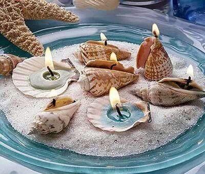 Candele conchiglia mare