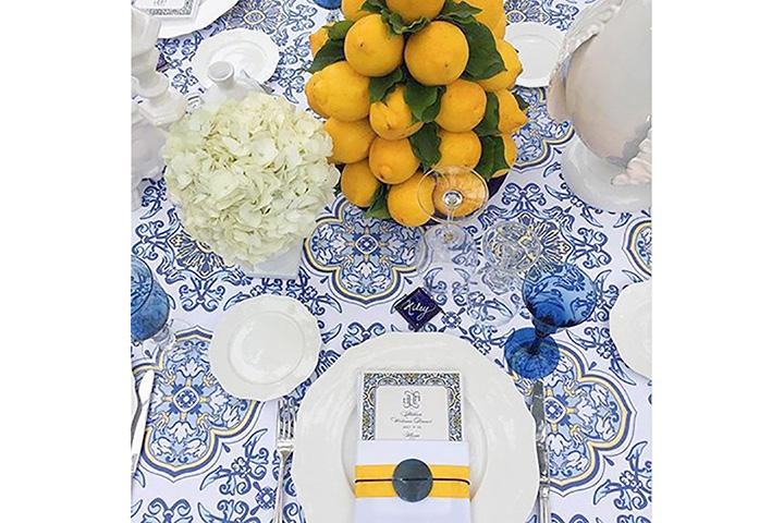 Allestimento tavola Matrimonio Tema Sicilia