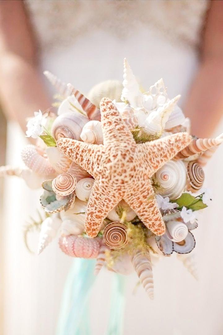 Bouquet conchiglie e stella marina
