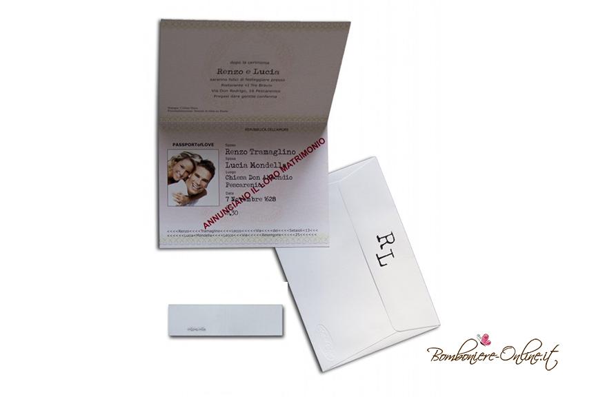 Partecipazione matrimonio passaporto interno