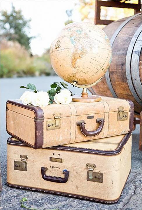 Allestimento matrimonio tema viaggio
