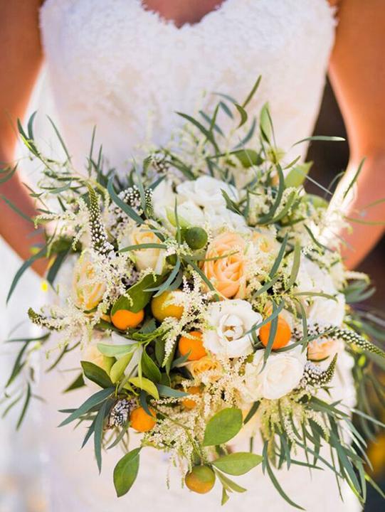 Bouquet sposa con agrumi di Sicilia